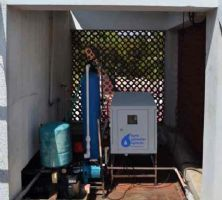 CDI used as a point-of-entry system for treating incoming water for residential homes.