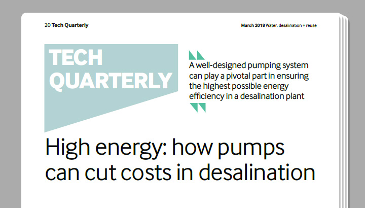 High energy: how pumps can cut costs in desalination - Water. desalination + reuse