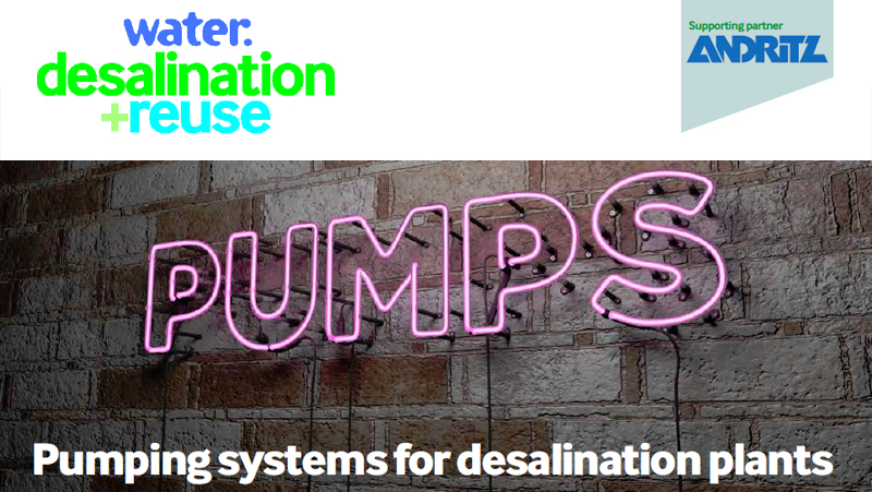 Pumping systems for desalination plants