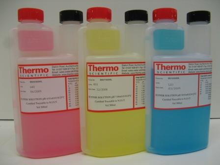 pH buffers for lab or field use