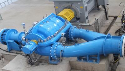 Multi-stage axial split case pumps